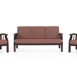 Garnet wooden sofa-3-1-1 set