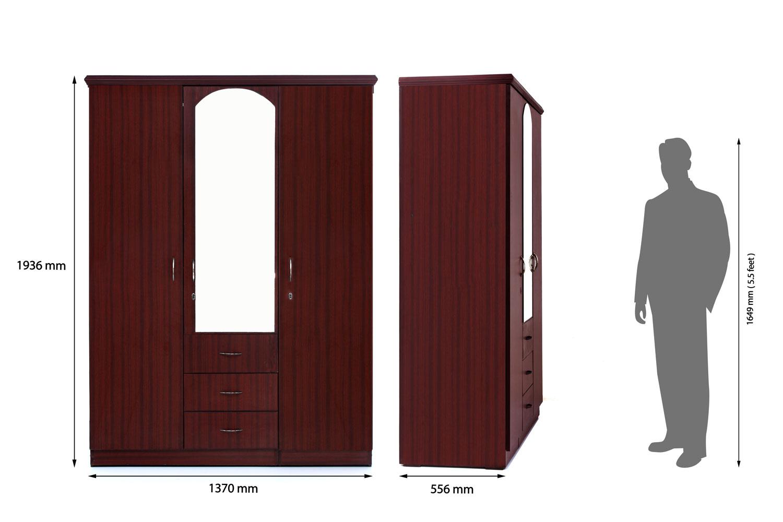 Galaxy Wardrobe 3 Door